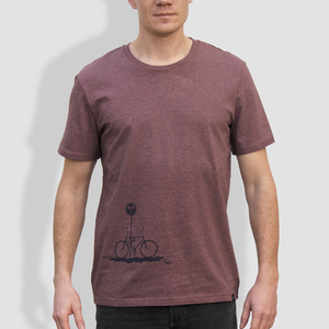 "Herren T-Shirt, ""No Way"", Black Heather Cranberry - little kiwi"