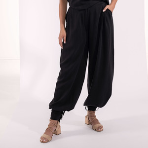 Lange Hose weit, Pumphose und Marlene-Hose ein einem, schwarz Tencel - SinWeaver alternative fashion