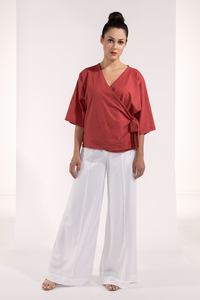 Marlenehose, Sommerhose weiß Tencel Sommerhose - SinWeaver alternative fashion