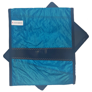 Handgearbeitete Notebook-Tasche / Hülle aus Segeltuch UNIKAT 12 Zoll - Beachbreak