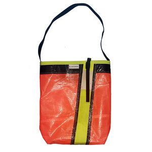 Knalliger Shopper Einkaufstasche Jutebeutel aus Windsurfsegel Canvas UNIKAT  - Beachbreak