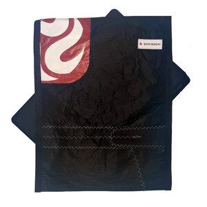 Handgearbeitete Notebook-Tasche / Hülle aus Segeltuch Kitesegel UNIKAT 14 Zoll - Beachbreak