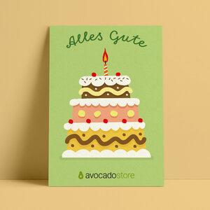 Wunschbetrag Gutschein ab 10€ - Alles Gute - grün - Avocado Store