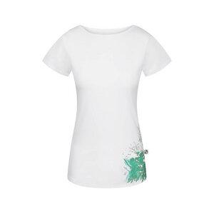 Natural Grown Flower T-Shirt Damen Weiß | Mint - bleed