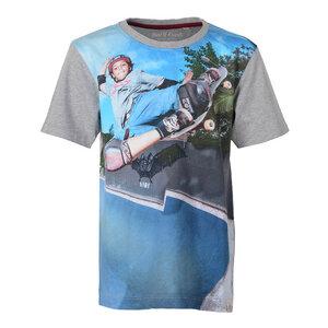 Digital Skate - Skateboard Kinder T-Shirt Kurzarm aus 100% Bio-Baumwolle - Band of Rascals