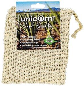 Sisal Seifensäckchen 100% Natur groß - Unicorn
