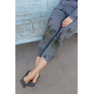 Naturdruck - Kurz Capri Leggings, Bio-Pima Baumwolle - B.e Quality