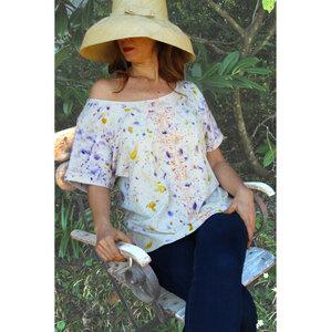 Naturdruck - Einheitsgröße - Kurzärmliges Maxi-T-Shirt,  Bio-Pima Baumwolle - B.e Quality