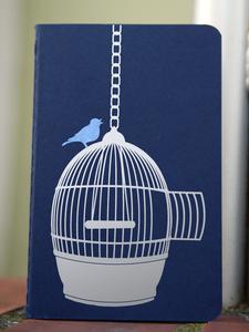 'Freigeist' NOTIZHEFT -blau- - shop handgedruckt