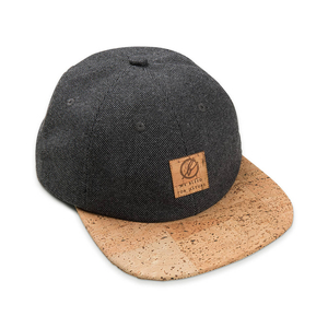 6-Panel Cap Kork Anthrazit - bleed