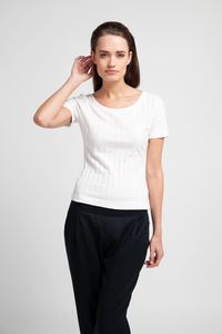 CORA - Damen Shirt in Ripp-Optik aus Bio-Baumwolle - SHIPSHEIP