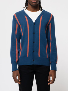 Nudie Jeans Jimmie Striped Cardigan Blue - Nudie Jeans
