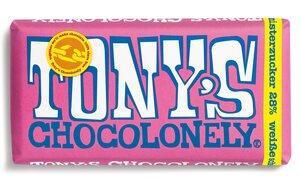 Weiße Schokolade mit Himbeere und Knisterzucker - 180 Gramm  - Tony´s Chocolonely