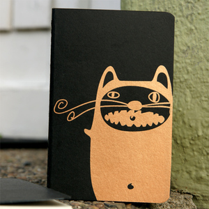 """Mr.Cat"" EDLES NOTIZHEFT - shop handgedruckt"