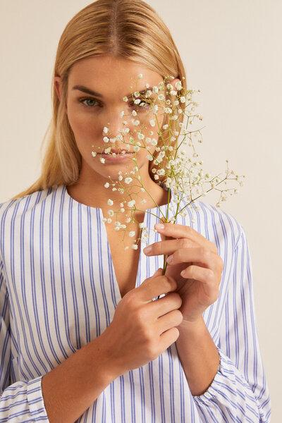 Bluse mit Streifen aus Bio-Baumwolle GOTS