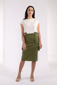 Top schlicht ärmellos Weiß-Creme zweilagig - SinWeaver alternative fashion