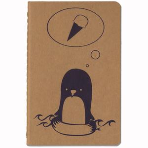 'Pinguin' NOTIZHEFT - shop handgedruckt