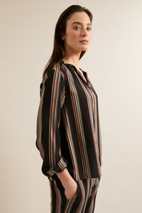 Bluse mit Streifen aus Lenzing Ecovero  - LANIUS