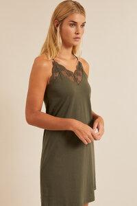 Kleid mit Spitze aus Bio-Baumwolle - LANIUS