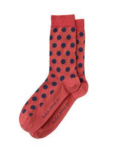 Nudie Jeans Socken Olsson Dot Rusty Red - Nudie Jeans