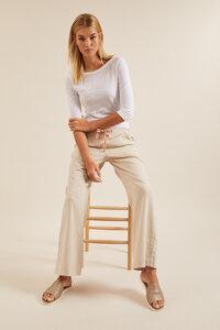 Marlenehose aus Bio-Baumwolle mit Leinen GOTS - LANIUS