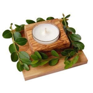 Kerzenhalter CONFINA aus Olivenholz - Olivenholz erleben