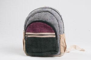 HH kleiner Nepali-Rucksack aus Hanf und Baumwolle von Himal Hemp (Backpack) - Himal Hemp