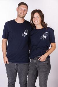 """Unisex T- Shirt """"ELEislutscher"""" in french navy - ecolodge fashion"""