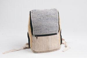 HH mittlerer Nepali Rucksack aus Hanf und Baumwolle von Himal Hemp (Backpack Medium) - Himal Hemp