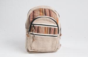 HH großer Nepal-Rucksack aus Hanf und Baumwolle von Himal Hemp (Backpack Big) - Himal Hemp