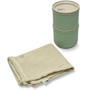 Avoidwaste Unverpackt Einkaufen Set (Vorratsdosen und Einkaufsnetz) - Avoidwaste