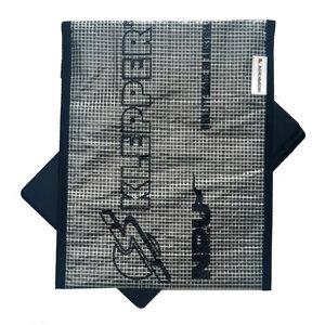 Handgearbeitete Notebook-Tasche / Hülle aus Segeltuch Windsurfsegel UNIKAT 13 Zoll - Beachbreak
