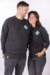 """Unisex Sweater """"ELHaifisch"""" in dark heather grey - ecolodge fashion"""