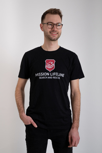 Logo Herren recycled organic T-Shirt - MISSION LIFELINE