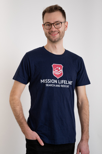 Logo Herren recycled organic T-Shirt - MISSION LIFELINE