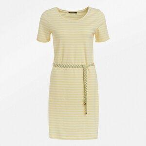 Sommer Frauen Kleid yellow stripes - GreenBomb