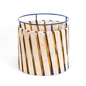 Aufbewahrungskorb aus Birkenrinde mit Metallrahmen / Groß ø35x35cm - MOYA Birch Bark
