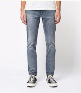 Nudie Jeans Bio-Denim Lean Dean Broken Sage - Nudie Jeans