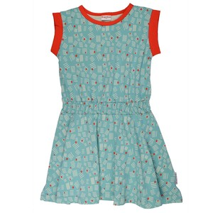Jersey Mädchenkleid ZigZag hellblau - Baba Babywear