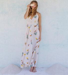 Kleid Maxi Einheitsgröße  Print - Multposition Dress Long Print - Bio-Baumwolle & Leinen - Suite 13