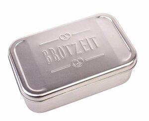 """Edelstahl Lunchbox XL mit Prägung """"BROTZEIT"""" - DS"""