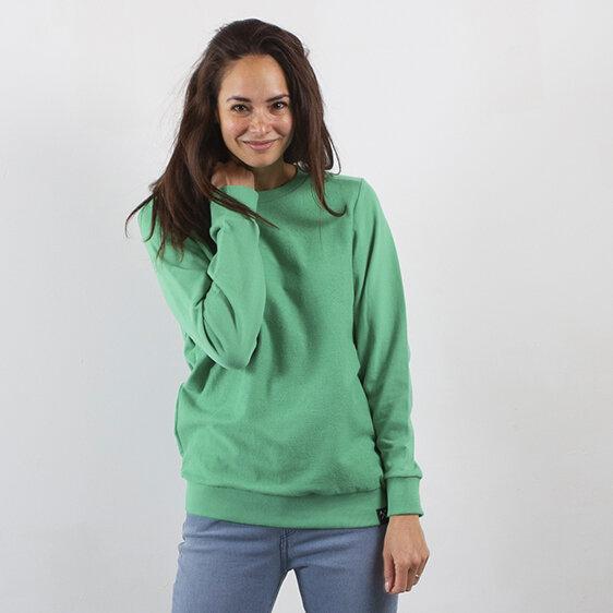 Sweatshirt Inside Out - Recycelte Bio-Baumwolle - Marineblau und Hellgrün