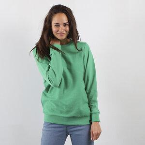 Sweatshirt Inside Out - Recycelte Bio-Baumwolle - Marineblau und Hellgrün - The Driftwood Tales