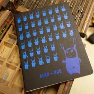 'Alko Bob' NOTIZHEFT DIN A4  - shop handgedruckt