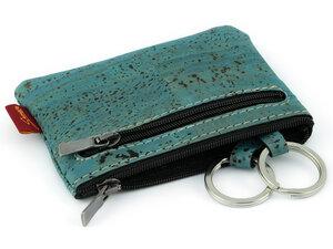 """Schlüsseletui """"UDINE"""" mit zwei Reißverschlüssen und zwei Schlüsselringen VEGAN - Simaru"""