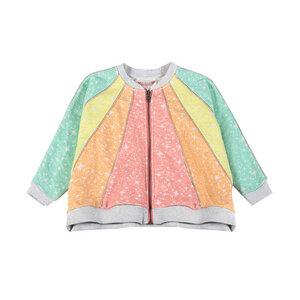 Regenbogen Oversize Sweat Jacke - PAPER WiNGS
