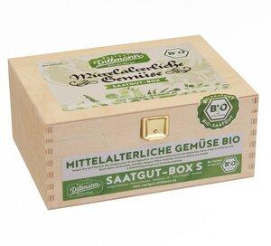 Mittelalterliche Gemüse Saatgut-Holzbox S Bio - Saatgut Dillmann