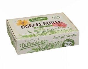 Essbare Blüten Saatgut-Box S Bio im Papp-Geschenkkarton - Saatgut Dillmann