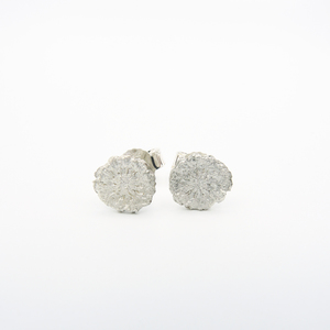 Mohn Ohrstecker recyceltes Silber - say time