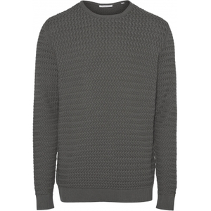 FIELD O-Neck structured Knit Pullover GOTS - KnowledgeCotton Apparel